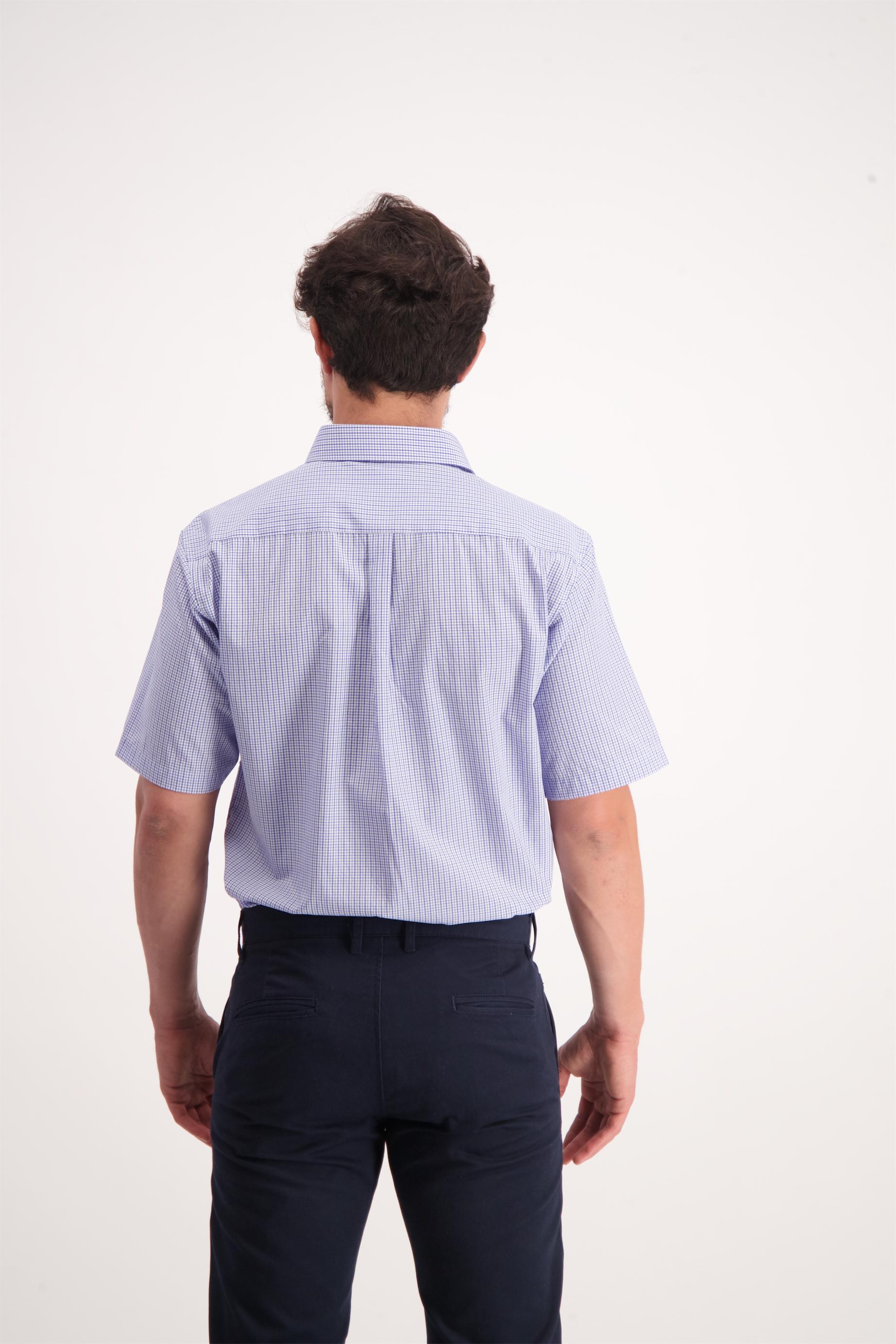 חולצה מכופתרת משבצות כחול