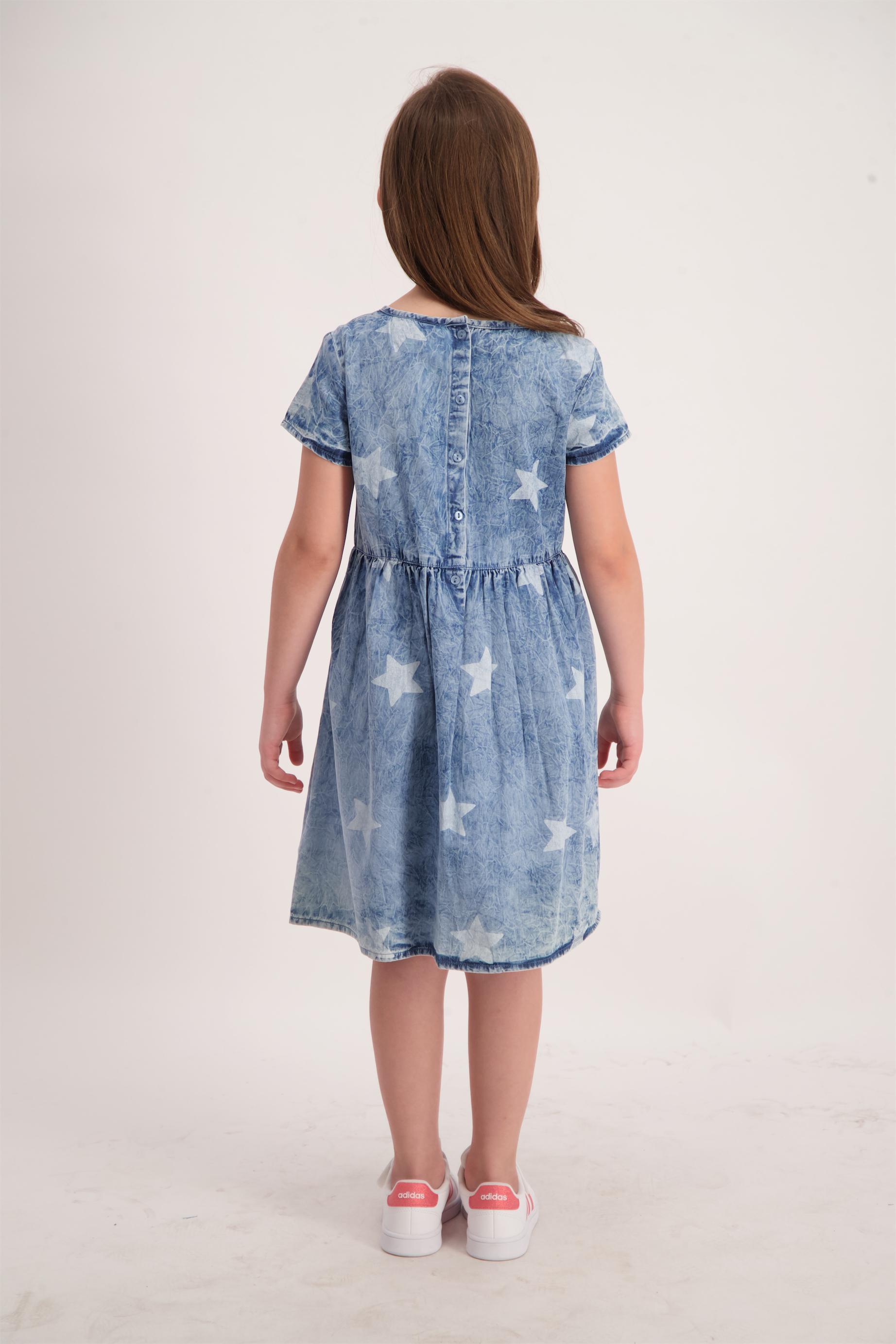 שמלה ג'ינס מודפסת
