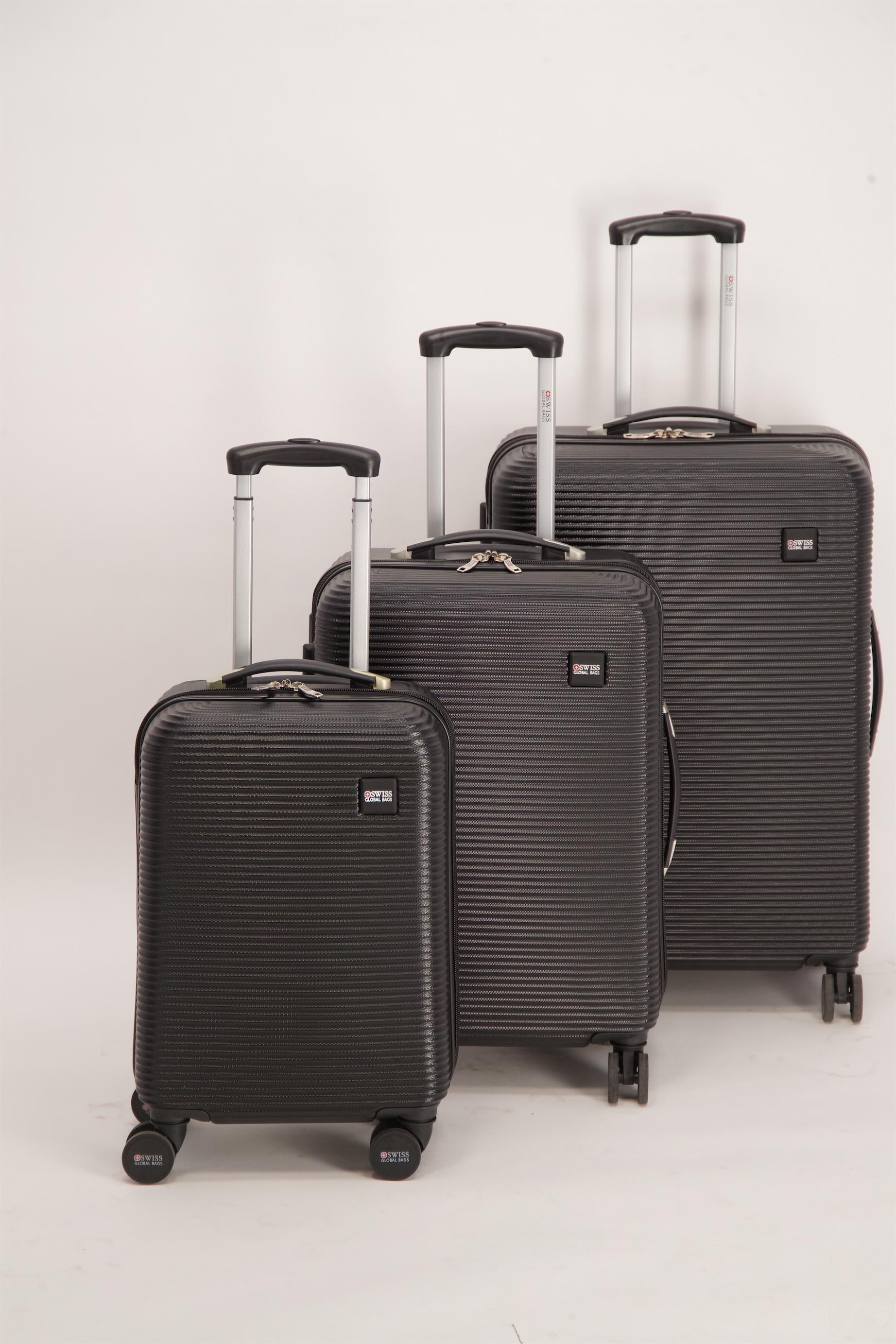 20-24-28 SWISS שלישיית מזוודות קשיחות
