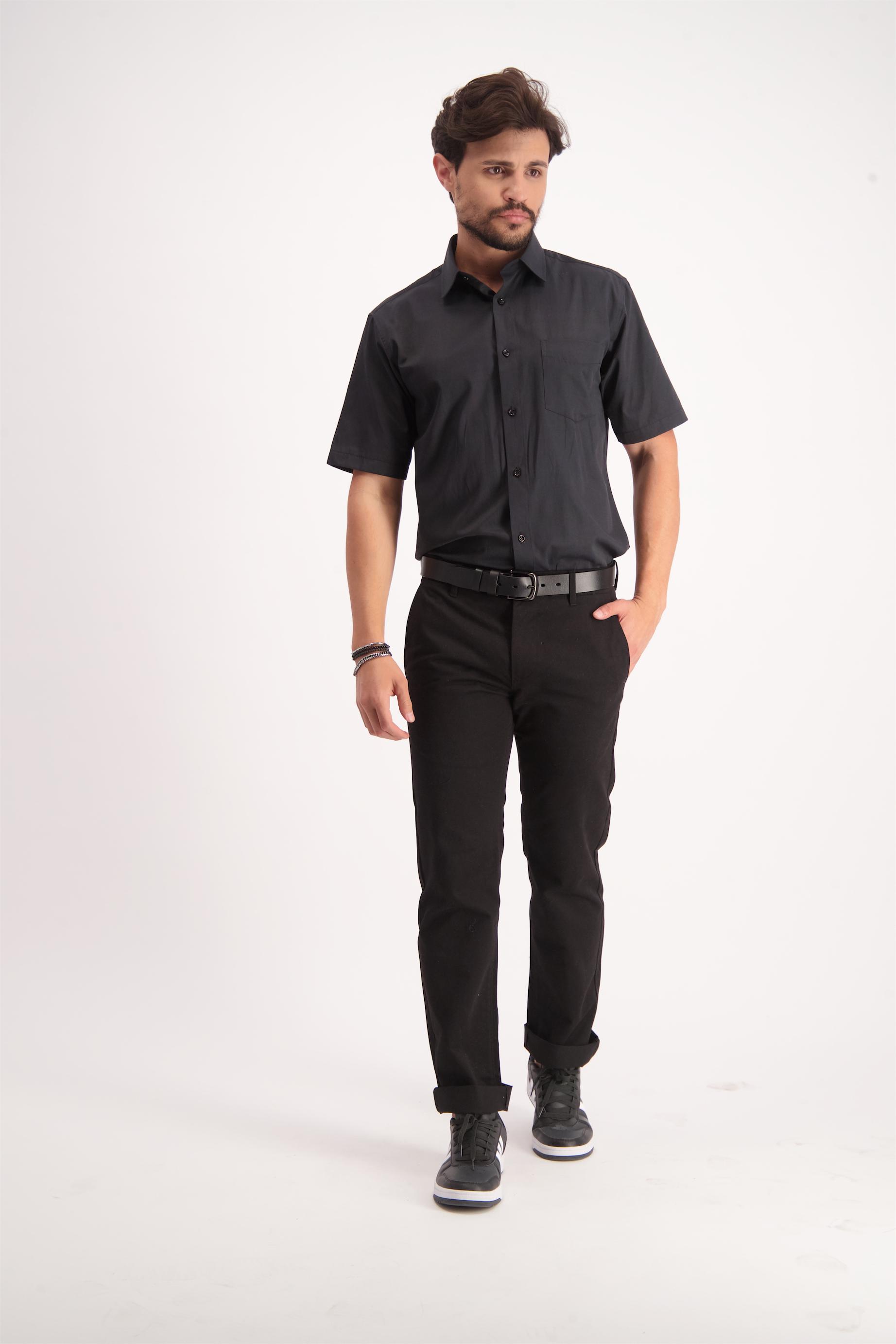 חולצה מכופתרת שחור