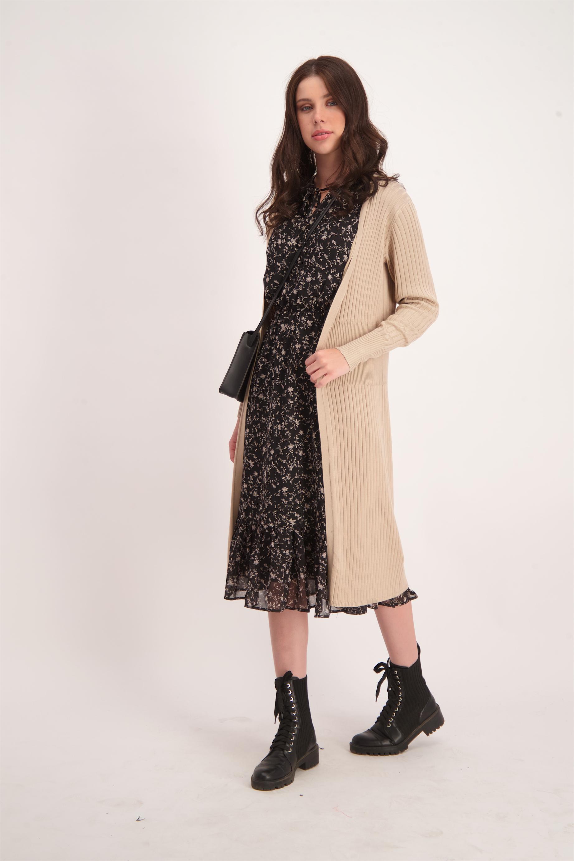שמלת שיפון מודפסת