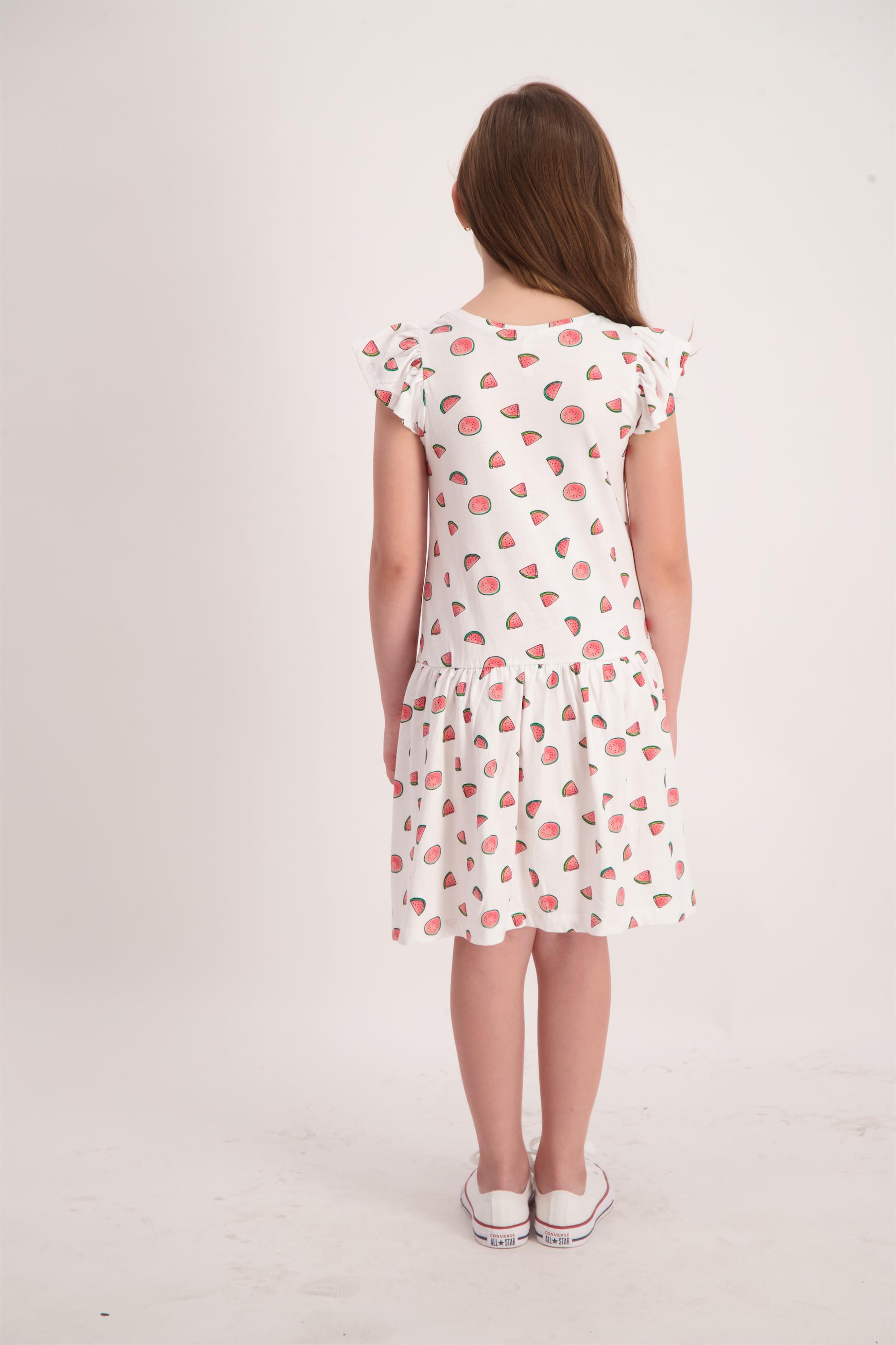 שמלת סינגל מודפסת מותן נמוך