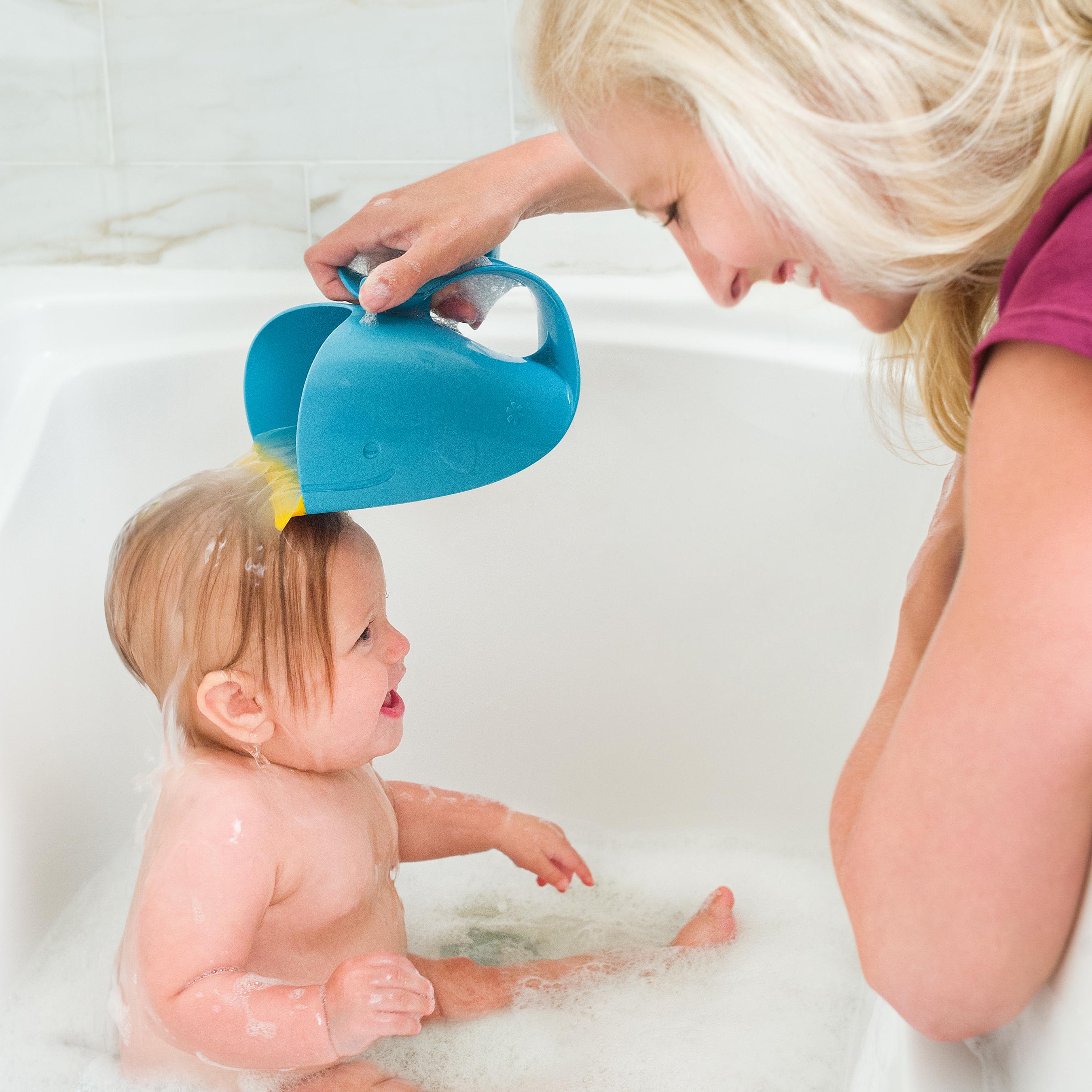 משפך לויתן לאמבטיה כחול